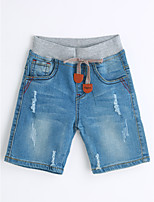 Boys' Solid Print Jeans-Cotton Summer