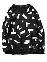 Men's Casual/Daily Sports Active Sweatshirt Print Round Neck strenchy Cotton Long Sleeve Spring Summer