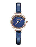 Women's Fashion Watch Japanese Quartz Water Resistant / Water Proof Leather Band Black White Blue Red Brown