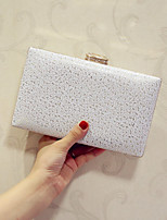 Women Evening Bag PU All Seasons Event/Party Party & Evening Club Baguette Magnetic Blushing Pink Silver