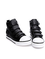 Women's Sneakers Leather Pigskin Spring White Black Ruby Flat