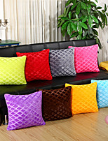 1 Pcs Solid Color Striped Rhombus Velveteen Pillow Cover Fashion Pillow Case