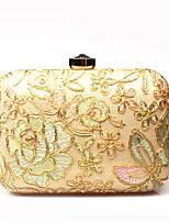 L.WEST Woman Fashion Luxury High-grade Leaves Flowers The Eembroidery Evening Bag