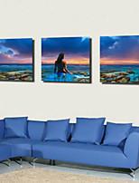 Art Print Landscape Mediterranean Three Panels Horizontal Print Wall Decor For Home Decoration