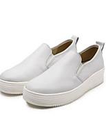 Для женщин Мокасины и Свитер Удобная обувь Полиуретан Весна Повседневные Удобная обувь Белый Черный На плоской подошве