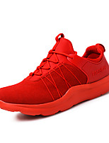 Men's Sneakers Ankle Strap Suede Summer Fall Outdoor Athletic Casual Red Gray Black 1in-1 3/4in