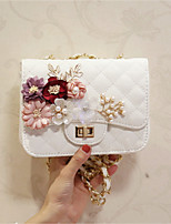 Women Evening Bag PU All Seasons Event/Party Party & Evening Date Club Flap Flower Clasp Lock Blushing Pink White
