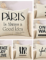 Set Of 6 Classic Quotes & Sayings Printing Pillow Cover Square Pillow Case Cotton/Linen Cushion Cover