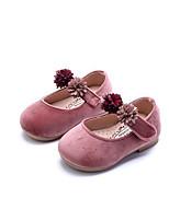 Девочки На плокой подошве Обувь для малышей Флис Полиуретан Весна Осень Для прогулок Повседневный Для прогулок На липучкахНа низком