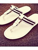 Masculino Chinelos e flip-flops Conforto Micofibra Sintética PU Primavera Casual Conforto Branco Preto Amarelo Rasteiro