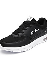 Men's Sneakers Ankle Strap PU Summer Fall Casual Black/White Black White 1in-1 3/4in