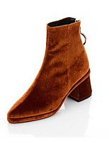 Women's Boots Comfort Suede Fur Spring Casual Khaki Army Green Black Flat