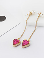 Women's Drop Earrings Imitation Pearl Euramerican Fashion Alloy Heart Jewelry For Party Daily 1 Pair