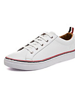 Men's Sneakers Comfort Leather Spring Casual White Black Flat