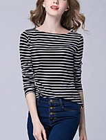 Women's Going out Casual/Daily Beach Sexy Simple Street chic Blouse,Solid Round Neck Sleeveless Polyester