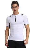 Men's Short Sleeve Running Breathable T-shirts Compression Comfortable Tops for Sports Outdoor