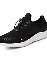 Men's Sneakers Ankle Strap Fabric Summer Fall Casual Black White 1in-1 3/4in