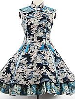 Outfits Wa Lolita Vintage Inspired Cosplay Lolita Dress Vintage Sleeveless Short / Mini For
