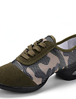 Non Customizable Women's Dance Shoes Synthetic Synthetic Dance Sneakers / Modern Sneakers Low Heel Outdoor Army Green