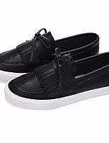 Women's Loafers & Slip-Ons Comfort PU Spring Casual Black White Flat