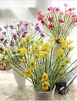 25inch 1 Branch 6 Heads Silk Daisies Tabletop Flower Artificial Flowers