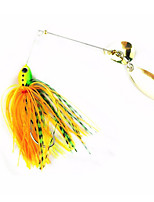 15g Spinnerbait Buzzbait Bass Fishing Lure Blade Skirt Metal Spoon Spinner Bait Rig Pike Carp Fishing Tackle