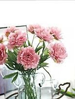 10 Ramo Seda Peônias Flores artificiais