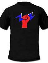 חולצות לד 100% כותנה 2 סוללות AAA