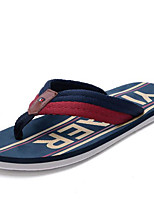 Men's Slippers & Flip-Flops Comfort Fabric Rubber Spring Casual Red Navy Blue White Flat