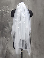 Wedding Veil Two-tier Elbow Veils Fingertip Veils Tulle Netting