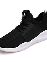 Women's Athletic Shoes Comfort PU Summer Athletic Walking Comfort Lace-up Flat Heel Blushing Pink Black White Flat