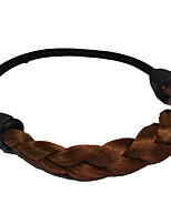2 Pieces Twist Braid Hair Tie Plastic Hair Ponytail Hair Tools Honey Brown