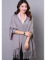 Women's Going out Casual/Daily Long Cardigan,Solid V Neck Long Sleeve Polyester Spring Fall Medium Micro-elastic
