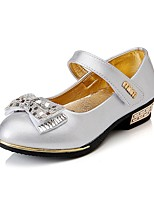 Girls' Sandals Casual  Summer Fall Event/Party Casual Walking Bowknot Chunky Heel Blushing Pink Silver Gold Under 1in