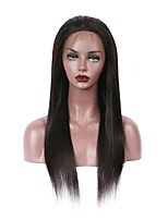 Full Lace Human Hair Wigs For Black Women Brazilian Hair Natural Color  Straight 130% Density