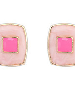 Euramerican Fashion Simple Style Temperament Elegant Squares Stud Earrings Lady Casual Stud Earrings Statement Jewelry