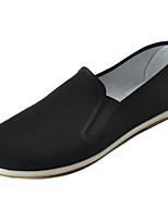 Men's Loafers & Slip-Ons Light Soles Fabric Spring Fall Casual Flat Heel Black Flat