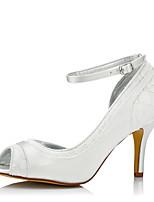 Mujer Zapatos de boda Confort Seda Tul Primavera Otoño Boda Vestido Fiesta y Noche Confort Tacón Stiletto Marfil 7'5 - 9'5 cms