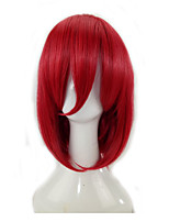 Women Synthetic Hair Wigs  Pixie Medium Length Straight  Red Cosplay Party Wig