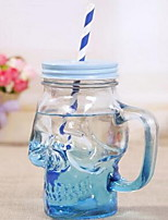Creative Gradual Color Skull Glass Bottles Summer Juice Drink Cup