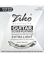 Ziko Acoustic Guitar Strings Set DUS010 Silver Plating 6 Strings For Acoustic Guitar Parts Musical Instruments