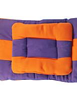 Chien Couchages Animaux de Compagnie Tapis & Planches Couleur Pleine Garder au chaud Diatonique double Doux Durable Orange Violet