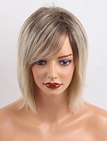 Prävalenz ombre Farbe gerade Menschenhaar Perücken für Frauen