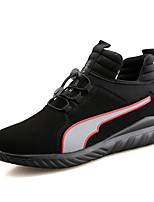 Men's Sneakers Comfort Tulle Spring Summer Fall Winter Athletic Casual Outdoor Comfort Gore Flat Heel Ruby Black/White Black/Red Flat