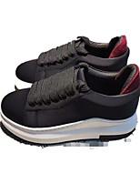 Women's Sneakers Creepers Comfort PU Pigskin Spring Casual Black Flat