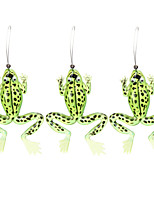 3 Pcs /lot High Quality Rubber Soft Frog Fishing Lures Bass CrankBait Tackle Fishing Lure