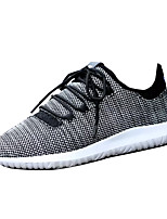 Men's Athletic Shoes Comfort PU Spring Fall Outdoor Comfort Lace-up Flat Heel White Black Beige Under 1in