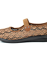 Women's Loafers & Slip-Ons Light Soles Tulle Summer Festival Buckle Flat Heel Camel Ruby Flat