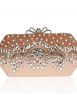 Women Evening Bag Polyester ABS+PC All Seasons Formal Event/Party Wedding Minaudiere Crystal/ Rhinestone Clasp LockSillver Gray