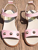 女の子 フラット 赤ちゃん用靴 レザー 春 秋 カジュアル ウォーキング 赤ちゃん用靴 面ファスナー ローヒール ホワイト シルバー ピンク フラット